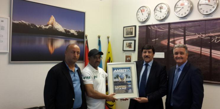 زيارة منظمة السلام والرياضة بجنيف