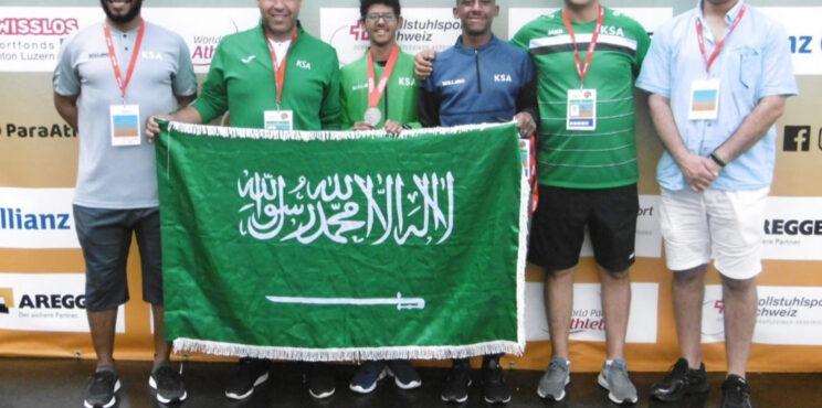 """الميدالية الفضية للعداء السعودي """"اسامة مسرحي """" في بطولة العالم للشباب لألعاب القوى لذوي الاحتياجات الخاصة"""